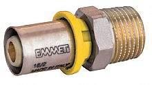 Conector Macho P/Gas 26mmx3/4 Prensar